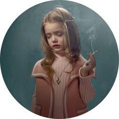 portraits of smoking children by talented Belgian photographer Frieke Janssens.