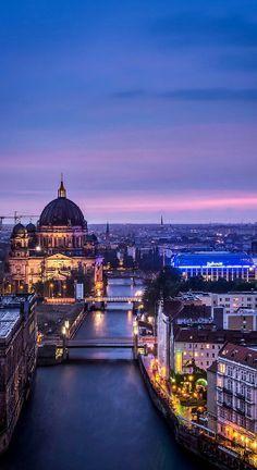 Berlin, Spree, Night, River
