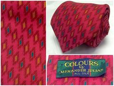 Men Colors by Alexaner Julian Tie Burgundy Red Abstract  Silk Necktie Classic #AlexanderJulian #NeckTie