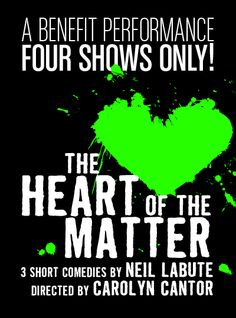 See Cheyenne Jackson and Emmanuelle Chriqui in Neil LaBute's The Heart of the Matter! Click through to buy tickets.