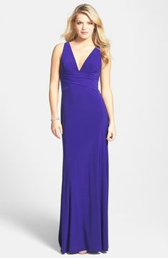 Hailey by Adrianna Papell Embellished Strappy Back Gown available at #Nordstrom