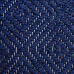 Big Diamond Twill, dark blue on the natural yarn Vandra Rugs Yarn Colors, Colours, Natural Linen, Scandinavian Design, Wool Felt, Bespoke, Dark Blue, Rugs, Diamond