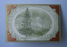 Stampin Up card - Masked Christmas - Lovely As A Tree