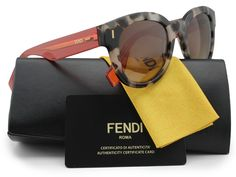 FENDI FF0026/S Sunglasses Tortoise w/Brown Gradient (07OQ) 0026 7OQ OH 50mm Authentic. Model: FENDI FF0026/S. Color Code: (07OQ) Tortoise w/Brown Gradient Lens. Gender: Women. Size: 50-22-140. Made: Italy.