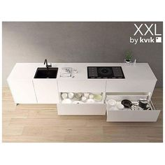 Bye bye top cupboards - choose Kvik's extra deep and tall XXL-cupboards and get 40% more storage space and 20% more space on your tabletop. Right now in our 135 stores And ofcourse our experts helps creating the perfect solution for free ✌️ #kvikkitchen#danishdesign#storage#kitchen#sentibykvik#kitchendream#perfectkitchen Cred: @kvikskoyen