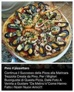 Pizzeria da Melino's Acitrezza pizza marinara alla Trezzota