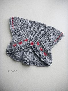 Stylish baby / toddler jacket. **This is knitting** - pinned for ideas