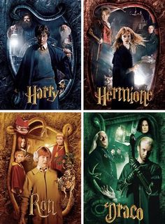 Harry Potter, Hermione Granger, Ron Weasley and Draco Malfoy in The Chamber of Secrets Harry Potter Tumblr, Harry Potter Hermione, Harry Potter Anime, Magia Harry Potter, Estilo Harry Potter, Mundo Harry Potter, Harry Potter Puns, Harry Potter Houses, Harry Potter Pictures