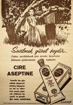 OĞUZ TOPOĞLU : cire aseptine krem 1959 nostaljik eski reklamlar 2...