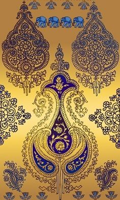 Indian Design Stencil Patterns, Fabric Patterns, Embroidery Patterns, Print Patterns, Textile Design, Fabric Design, Pattern Design, Indian Patterns, Textures Patterns