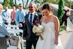 The bride walks down the aisle - love her cool look! {Apaige Photography}