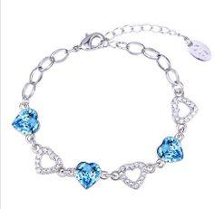 Women Swarovski Crystal Charm Bracelet from Ouxi