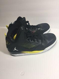 7bd46b4e7eef93 Mens Nike Air Jordan Flight Shoes Size 9.5 Black Yellow  fashion  clothing   shoes  accessories  mensshoes  athleticshoes (ebay link)