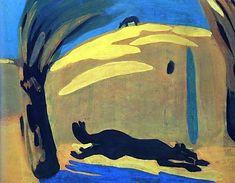 1909 Зной. Бегущая собака. К., т. 56х68 ЧС, Франция (МС q) - Сарьян Мартирос Сергеевич