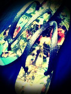 Photo Collage Flip Flops