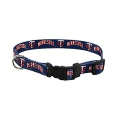 Hunter MFG Minnestoa Twins adjustable nylon Dog Collar - Large