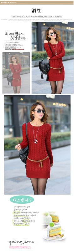 Larga sección 2013 de invierno nuevas mujeres coreanas delgada de espesor de cuello redondo de manga larga jersey de punto de tocar fondo de cobertura 79,00 -? Lilas - lilas del blog