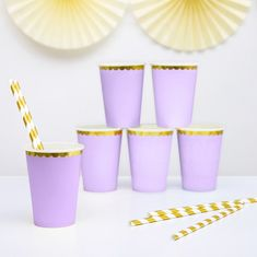 Yummy Colours Pastell Lila Pappbecher, 6 Stück Pastell Party, Minecraft, Pink, Colours, Tableware, Candy, Pastel Purple, Treats, Dinnerware