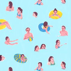 leahreena:  new swimmers repeat pattern