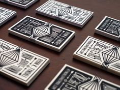 Custom Letterpress Business Card and Graphic by PRINTandGRAIN, $200.00