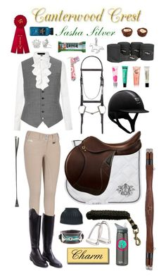 """Canterwood Crest: Sasha Silver"" by equine-couture ❤ liked on Polyvore"
