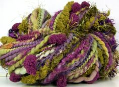 Kitty Grrlz FunctionArt Hand Spun Art Yarn handspun by Kitty Grrlz