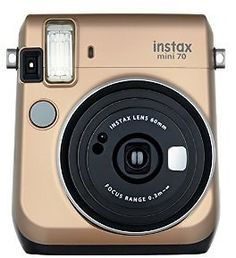 Fujifilm Instax Mini 70 - Instant Film Camera (Gold) : Camera & Photo: New sleek streamlined design #coupons #discounts