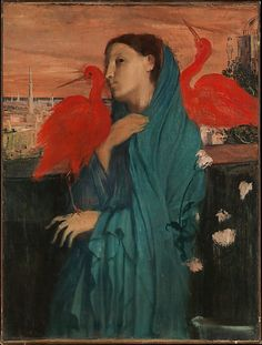 Young Woman with Ibis / Edgar Degas / 1860-62 / oil on canvas