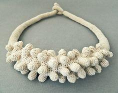 Lidia Puica - Necklace (cotton, fabric).