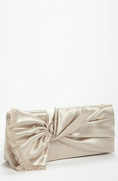Nina Twist Flap Satin Clutch available at #Nordstrom #Nordstromweddings