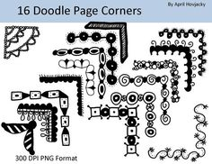 Straight Line Borders Clip Art : For when i need to doodle a border on something. craft ideas