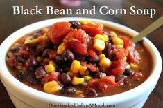 Easy Crock Pot Recipes – Black Bean and Corn Soup