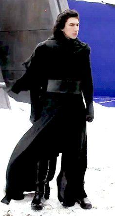 Adam Driver as Kylo Ren in Star Wars Episode VII: The Force Awakens