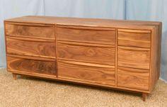 9 drawer Sappy Walnut dresser Item  9D821 by HWFurniture on Etsy, $1200.00