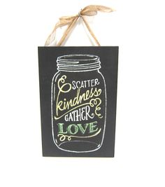 Scatter Kindness Chalkboard Wall DecorScatter Kindness Chalkboard Wall Decor,