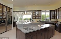 Fancy: The chef's kitchen comes equipped with center island...