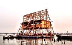 floating school, makoko, lagos, nigeria, kunle adeyemi, africa, flood, water