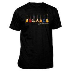 Joe Bonamassa JB Guitars Black Tee Shirt - Jam out in this black Joe Bonamassa signature shirt featuring 7 classic guitars.
