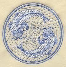 Chinese koi painting,  exquisite