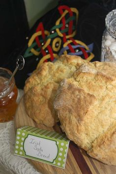 Irish soda bread at a St. Patrick's Day party! See more party ideas at CatchMyParty.com!