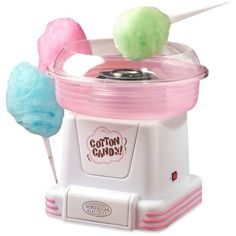 Nostalgia  Hard & Sugar-Free Candy To Cotton Candy Maker Pcm805 (51 CAD) ❤ liked on Polyvore featuring home, kitchen & dining and pink