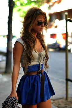 Faldas en línea A, perfectas para esta primavera.