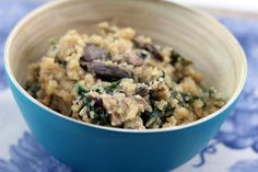Mushroom Feta Quinoa Risotto from We are not Martha - healthy, hearty & filling flavors