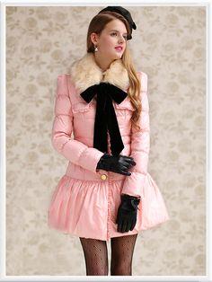 Morpheus Boutique  - Pink Bow Button Down Long Sleeve Ruffle Coat, CA$194.85 (http://www.morpheusboutique.com/pink-bow-button-down-long-sleeve-ruffle-coat/)
