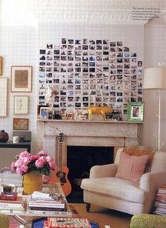 Polaroid wall.