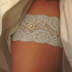 GARTER: Something Blue Bridal Garter - wedding fashion