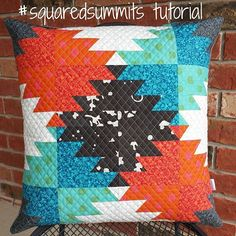 Today on the 52 Quilters blog I share a tutorial for this block you've seen a lot of on my feed. I call it #squaredsummits because it's a square version of the traditional delectable mountains block. Once you make it square, the possibilities are endless! You can find the tutorial at 52quilters.com. Thanks to @wens_was_here for the inspiration. @52quilters