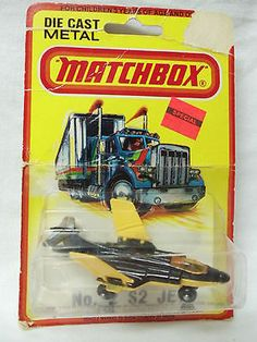 S2 JET  # 2  BLACK AND YELLOW  CARDED MATCHBOX BY LESNEY 1980 1/64 - http://www.matchbox-lesney.com/?p=15621