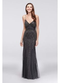 Long A-Line Spaghetti Strap Formal Dresses Dress - Marina