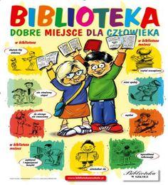 Biblioteka Dobre Miejsce dla Człowieka Polish Language, Comic Books, Education, Comics, Reading, Words, School, Historia, Biblia